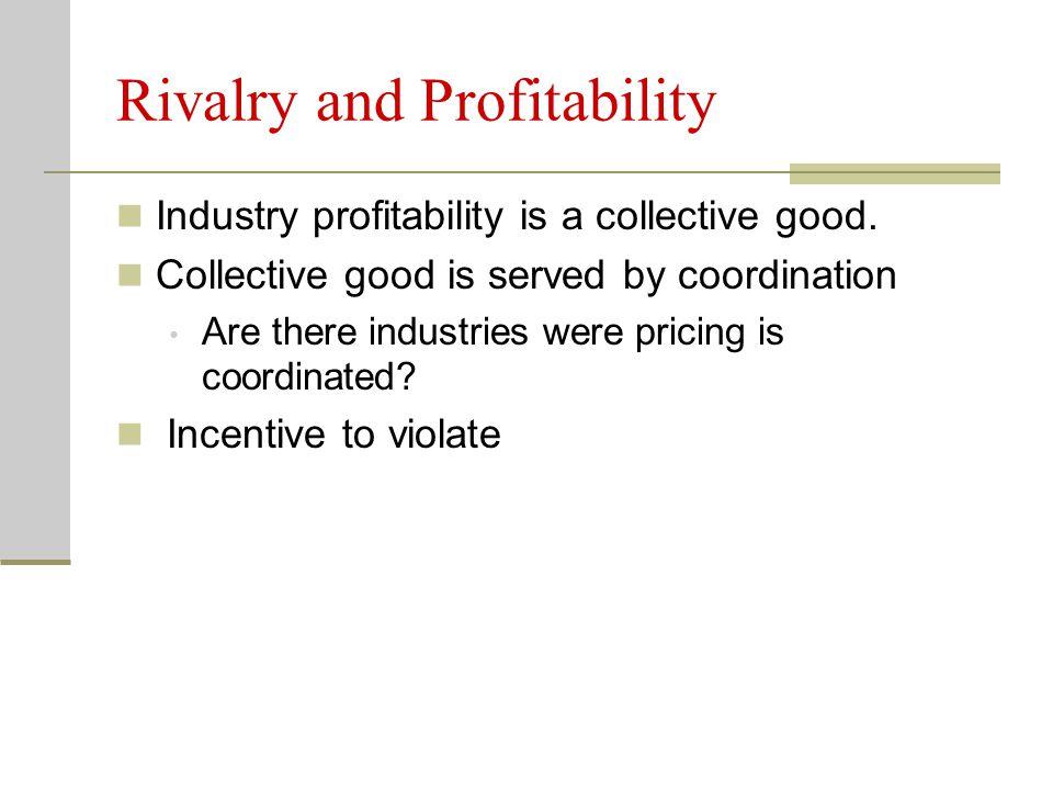 Rivalry and Profitability