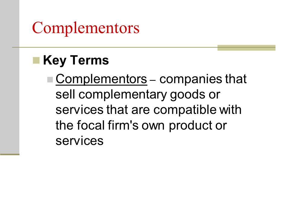 Complementors Key Terms