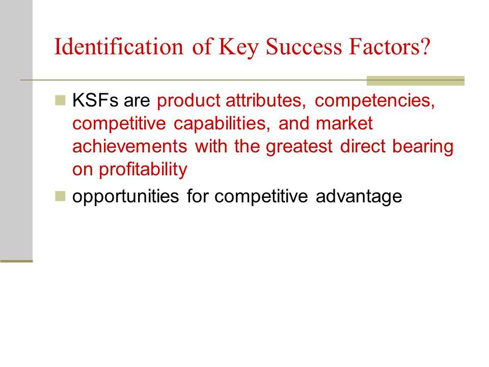Identification of Key Success Factors