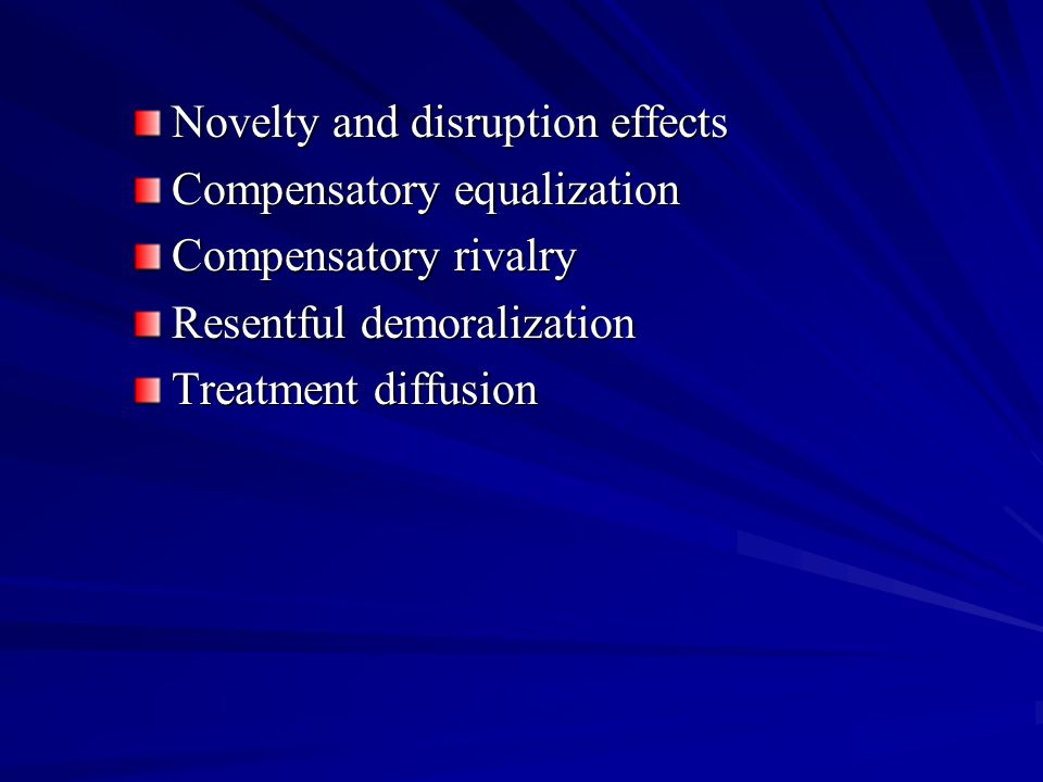 Novelty and disruption effects