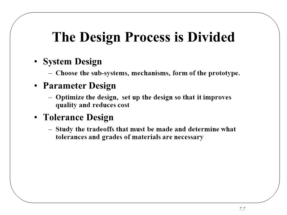 The Design Process is Divided