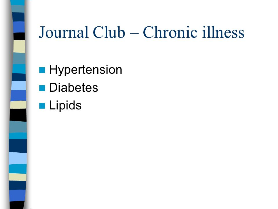 Journal Club – Chronic illness