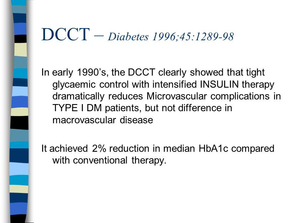 DCCT – Diabetes 1996;45:1289-98