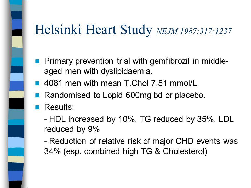 Helsinki Heart Study NEJM 1987;317:1237
