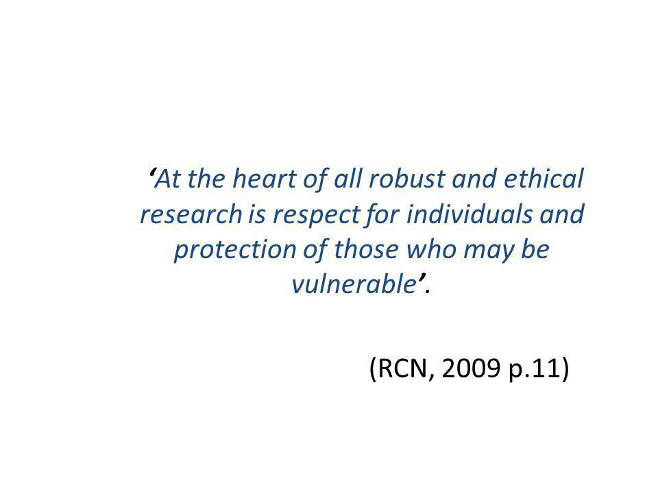 'At the heart of all robust and ethical