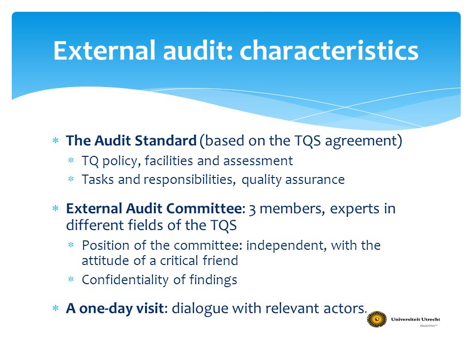 External audit: characteristics