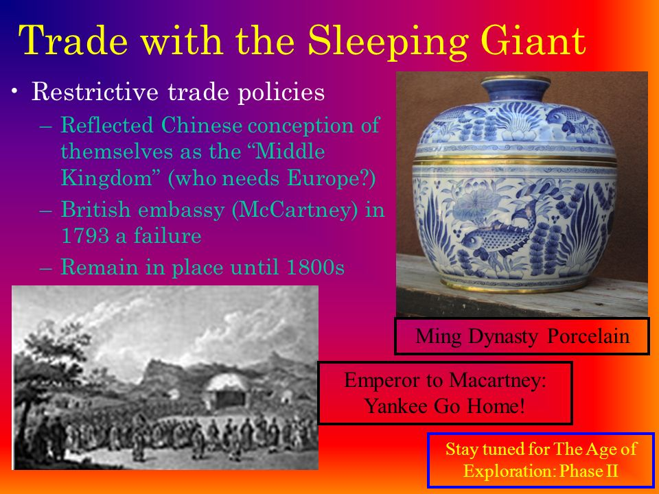 Trade with the Sleeping Giant
