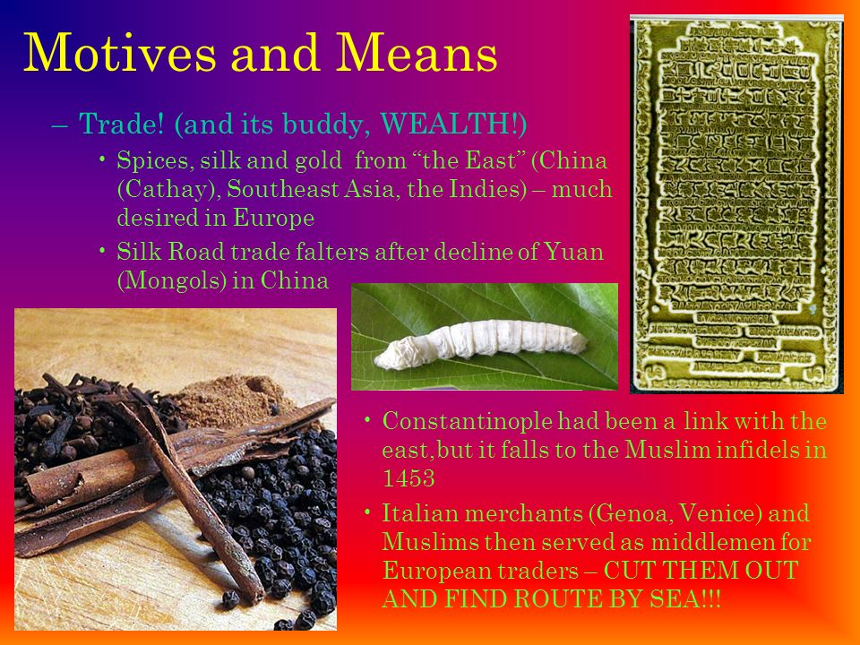 Motives and Means Trade! (and its buddy, WEALTH!)
