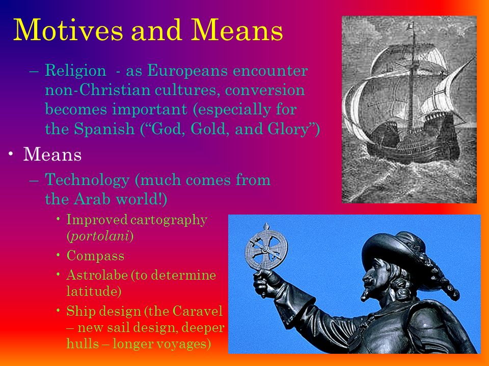 Motives and Means Means
