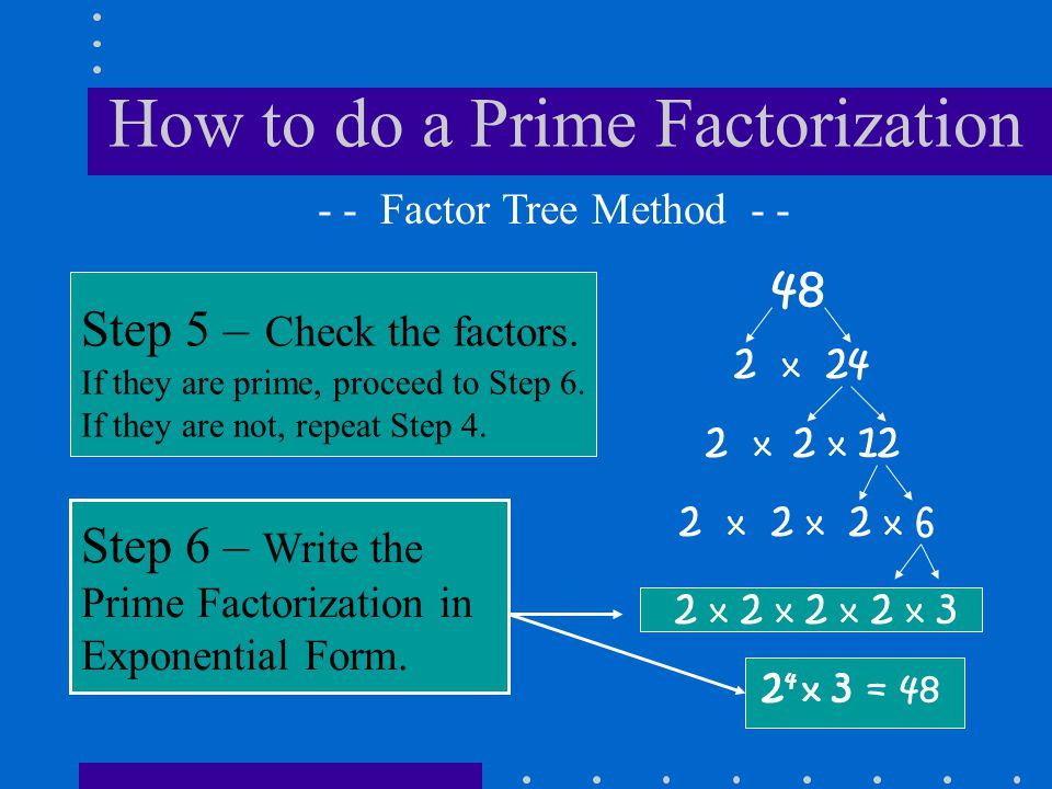 How to do a Prime Factorization