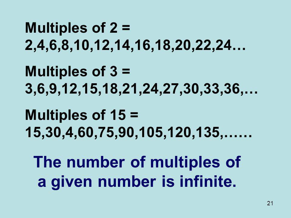 The number of multiples of a given number is infinite.