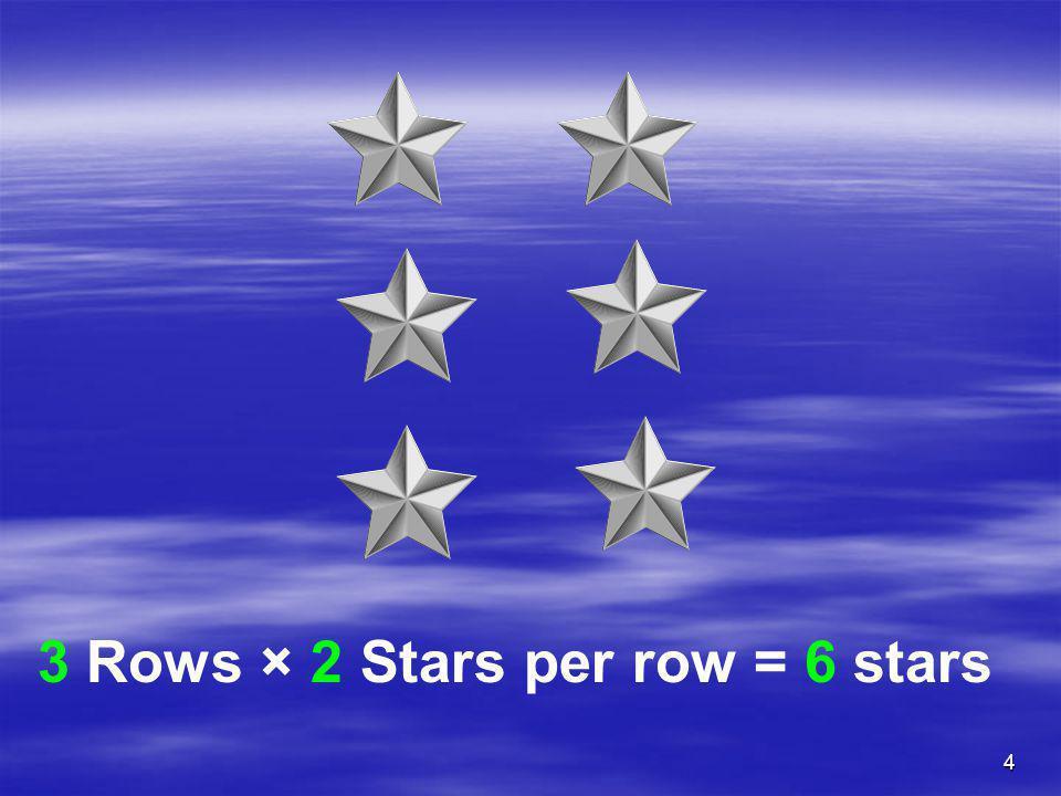 3 Rows × 2 Stars per row = 6 stars
