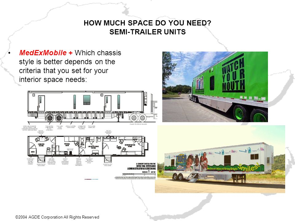 HOW MUCH SPACE DO YOU NEED SEMI-TRAILER UNITS