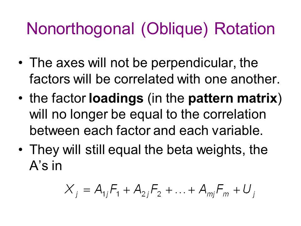 Nonorthogonal (Oblique) Rotation