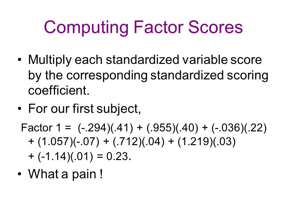 Computing Factor Scores