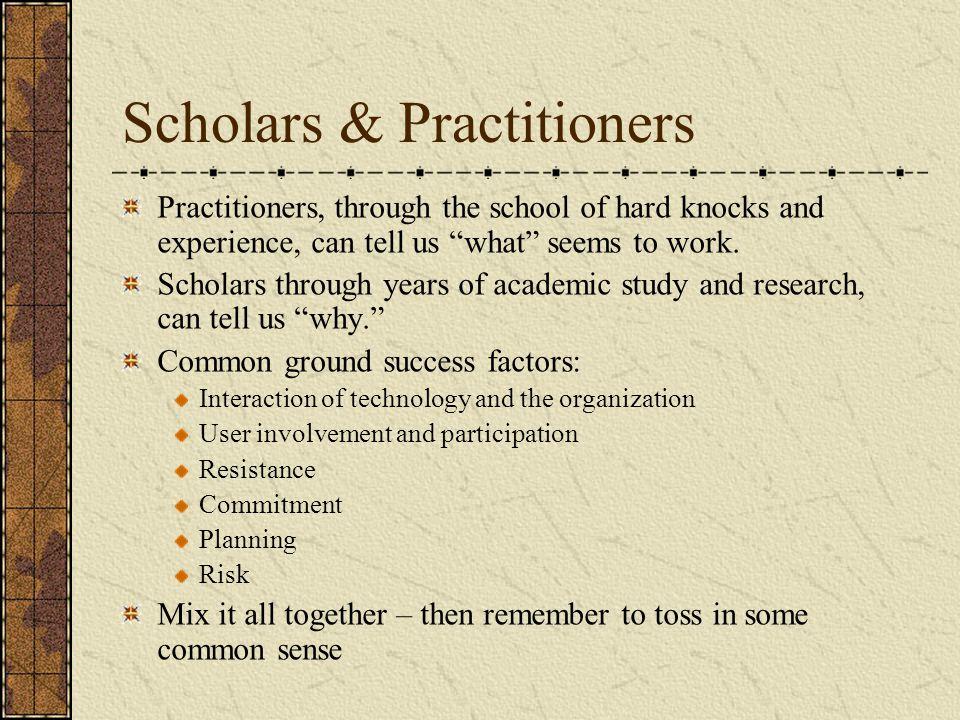 Scholars & Practitioners