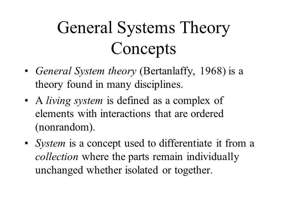 General Systems Theory Concepts