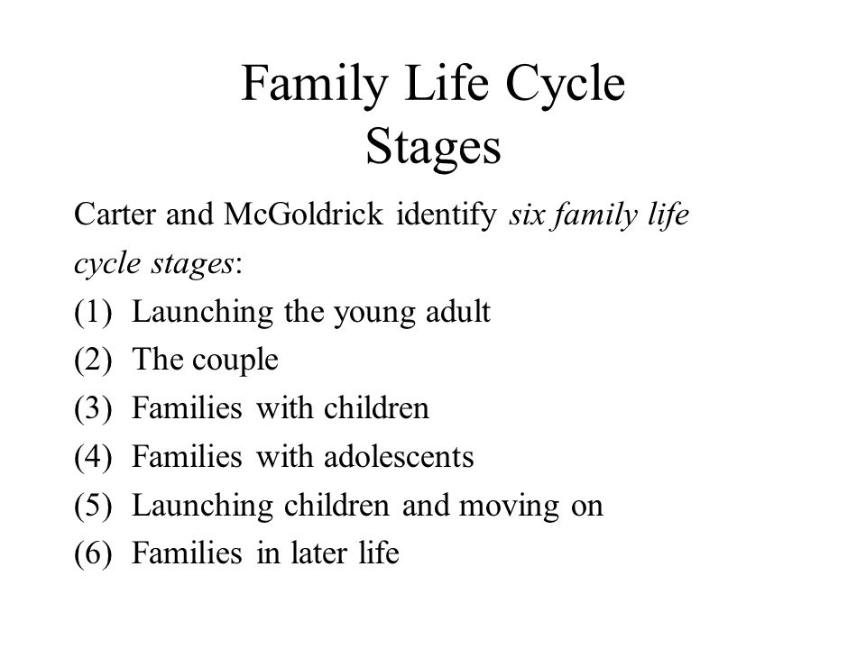 Family Life Cycle Stages