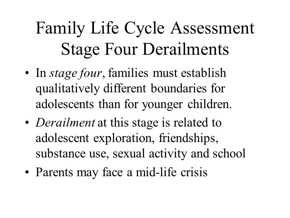 Family Life Cycle Assessment Stage Four Derailments