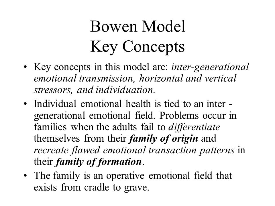 Bowen Model Key Concepts