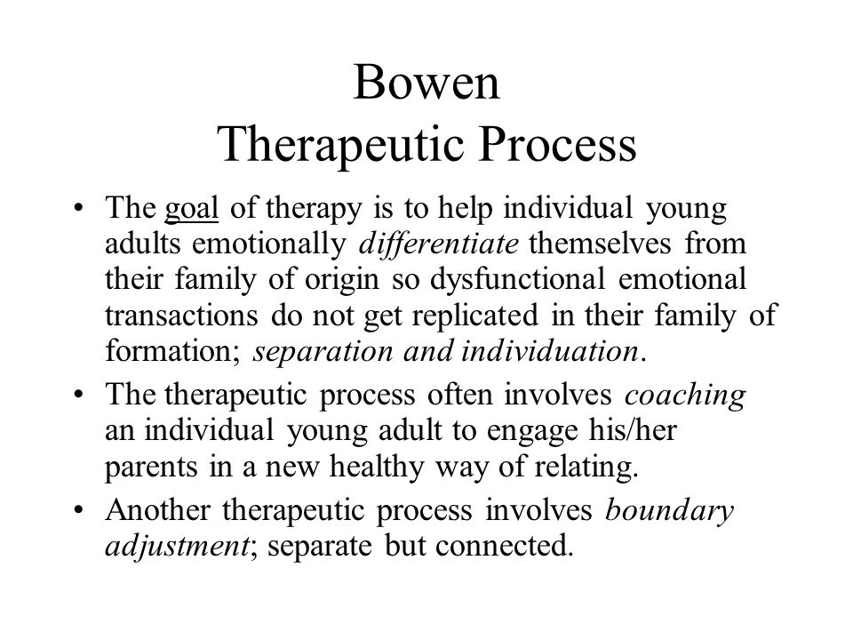 Bowen Therapeutic Process