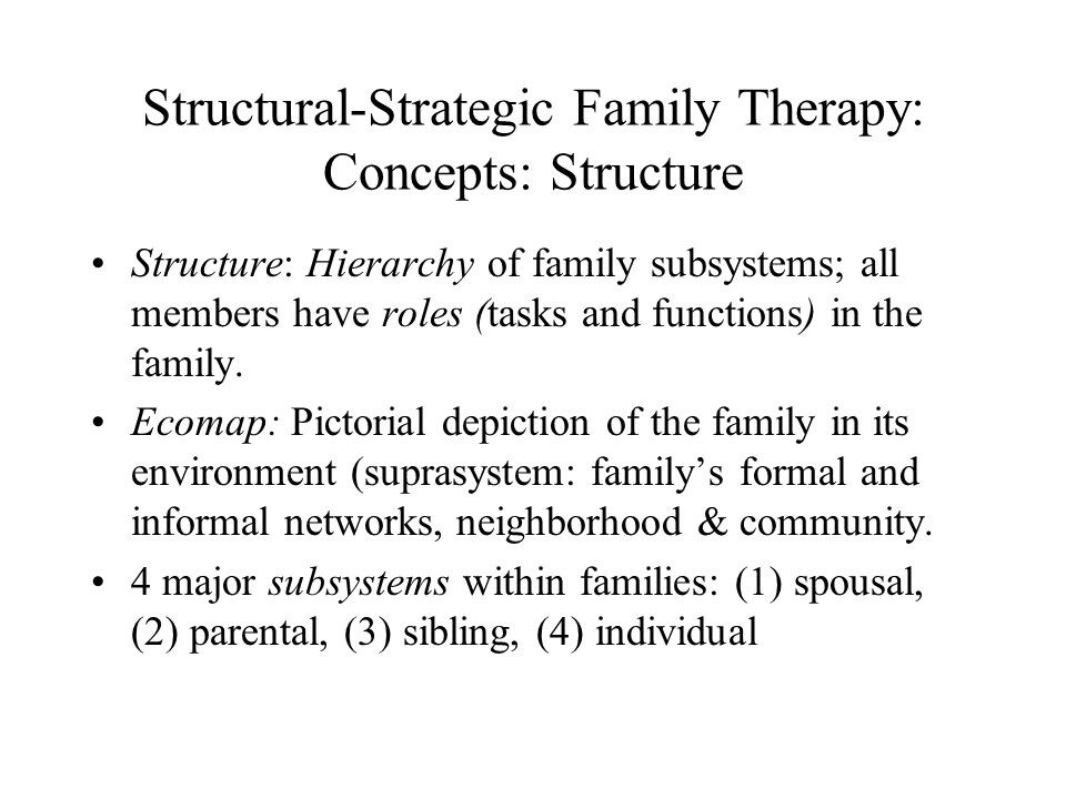 Structural-Strategic Family Therapy: Concepts: Structure