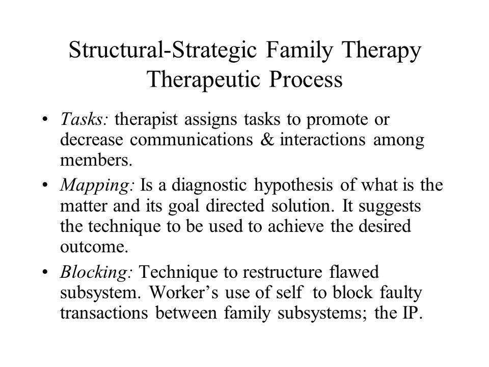 Structural-Strategic Family Therapy Therapeutic Process