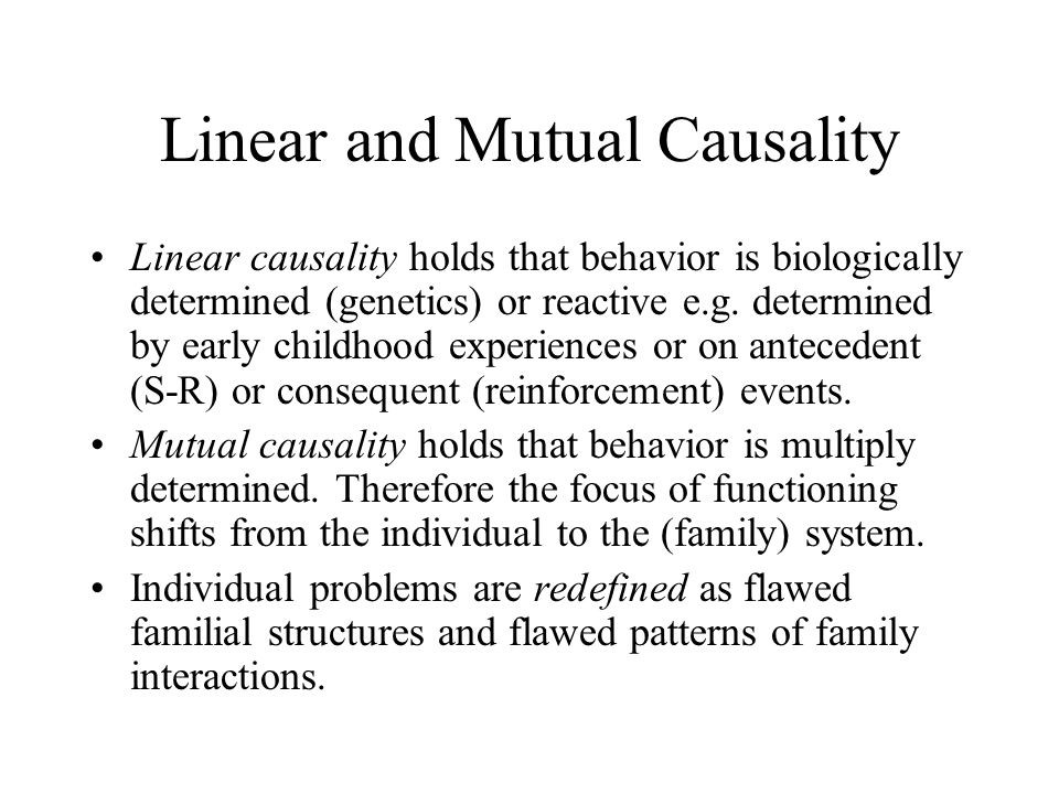 Linear and Mutual Causality