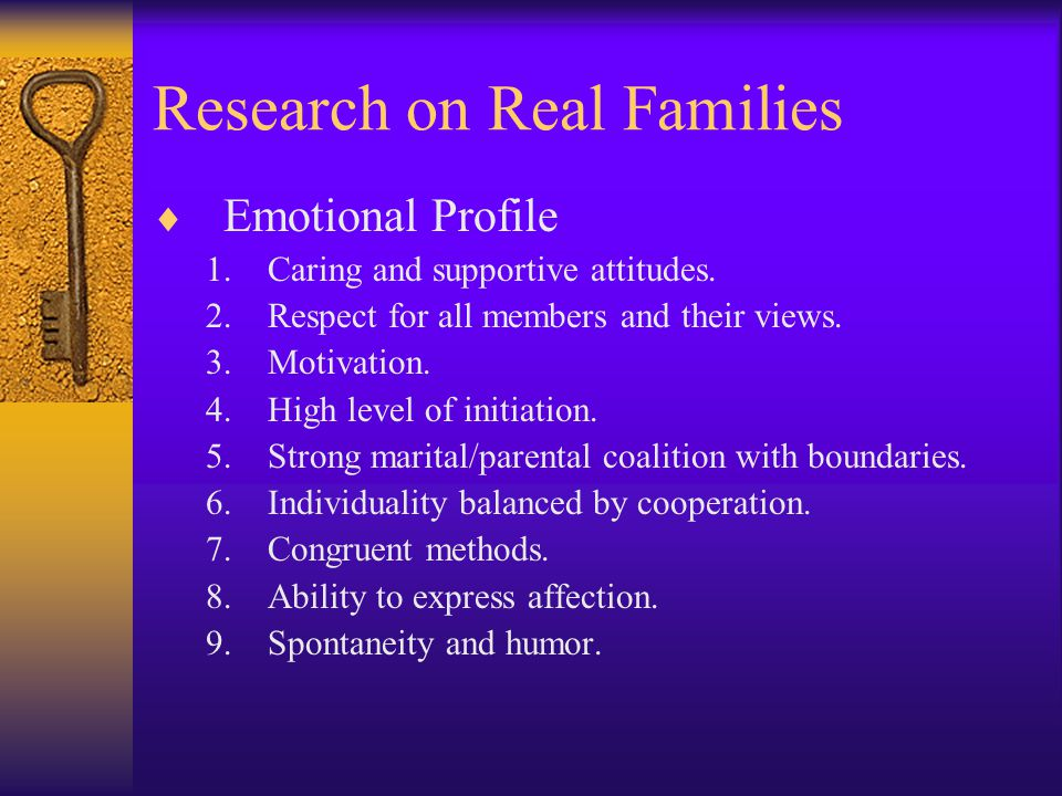 Research on Real Families