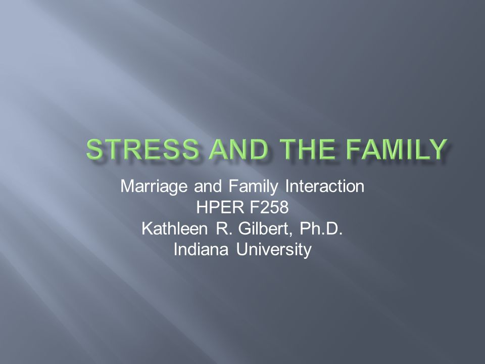 Marriage and Family Interaction