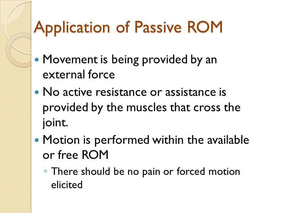 Application of Passive ROM
