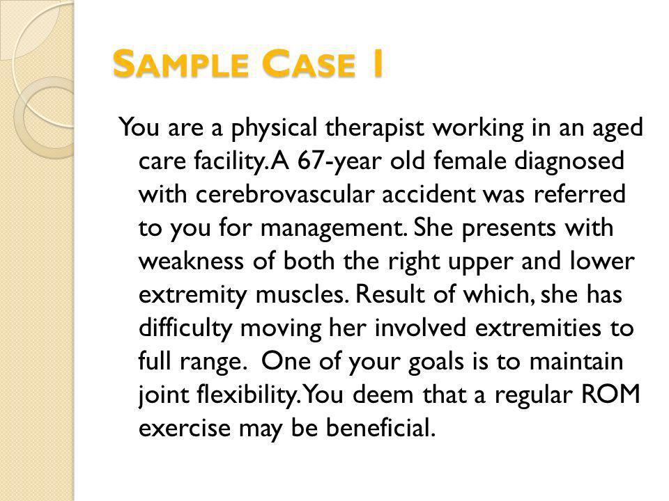 Sample Case 1