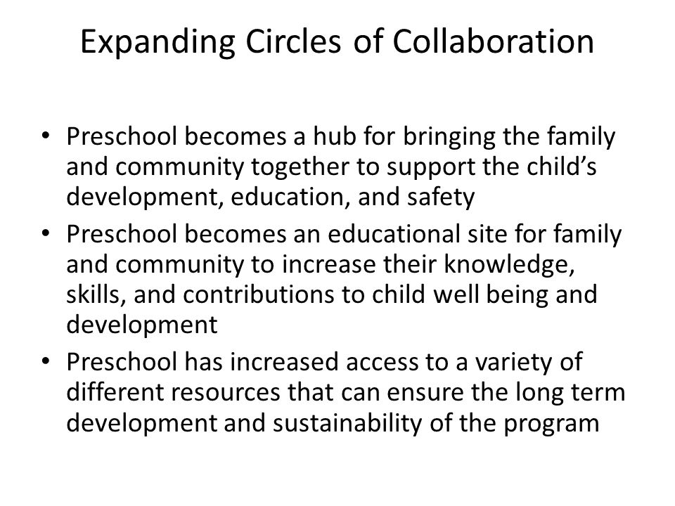 Expanding Circles of Collaboration