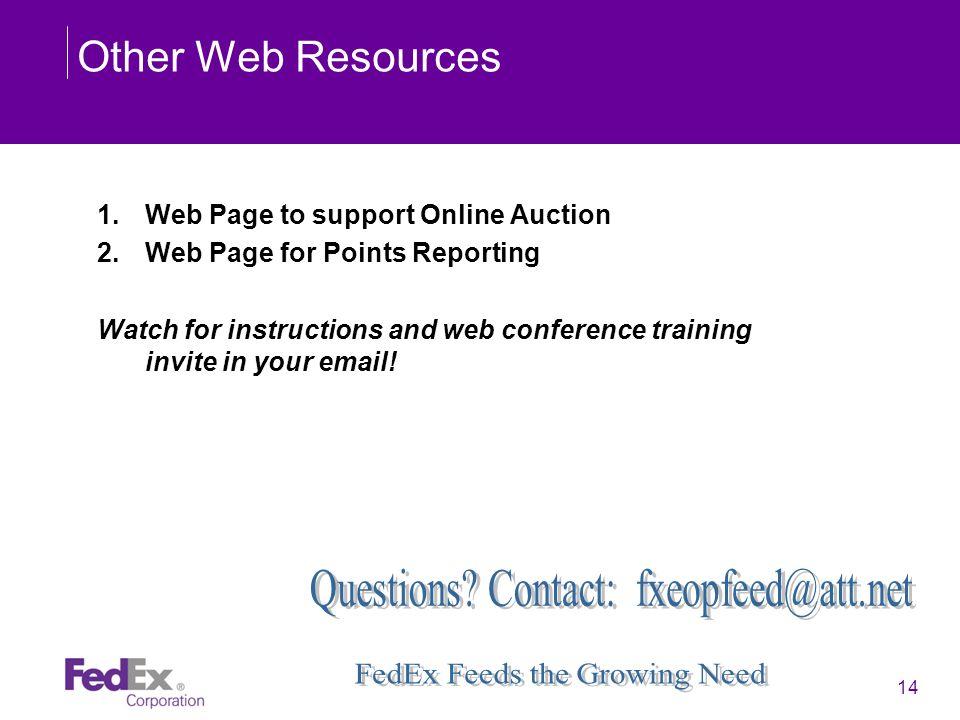 Questions Contact: fxeopfeed@att.net