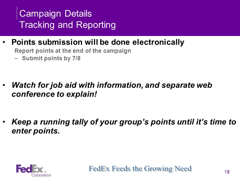Campaign Details Tracking and Reporting