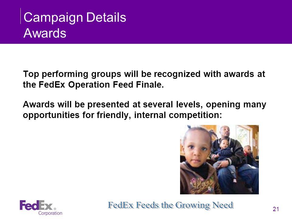 Campaign Details Awards