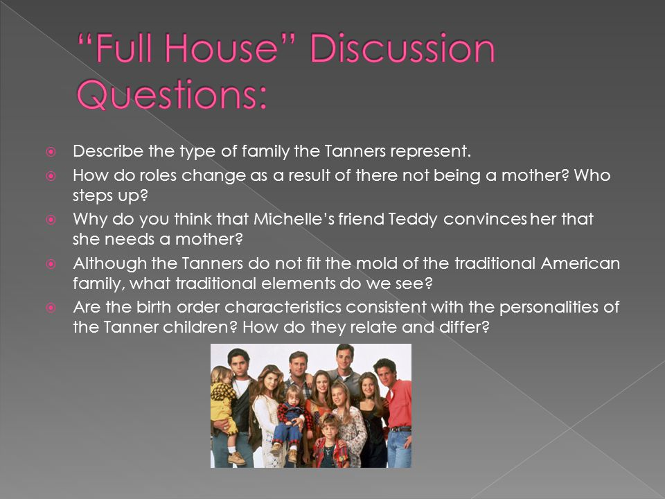 Full House Discussion Questions: