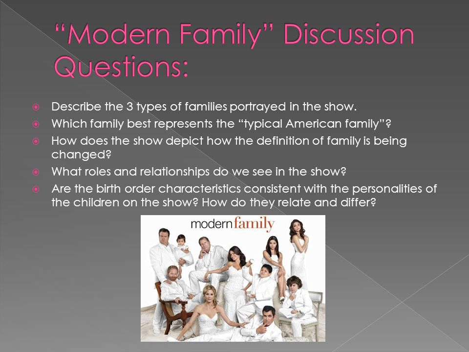 Modern Family Discussion Questions: