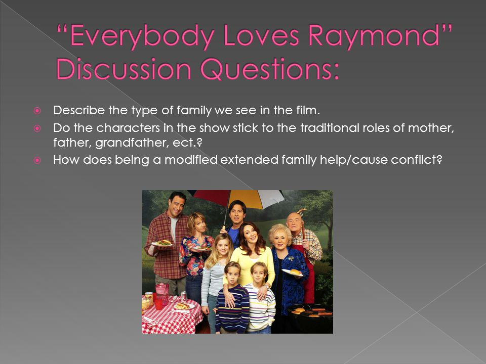 Everybody Loves Raymond Discussion Questions: