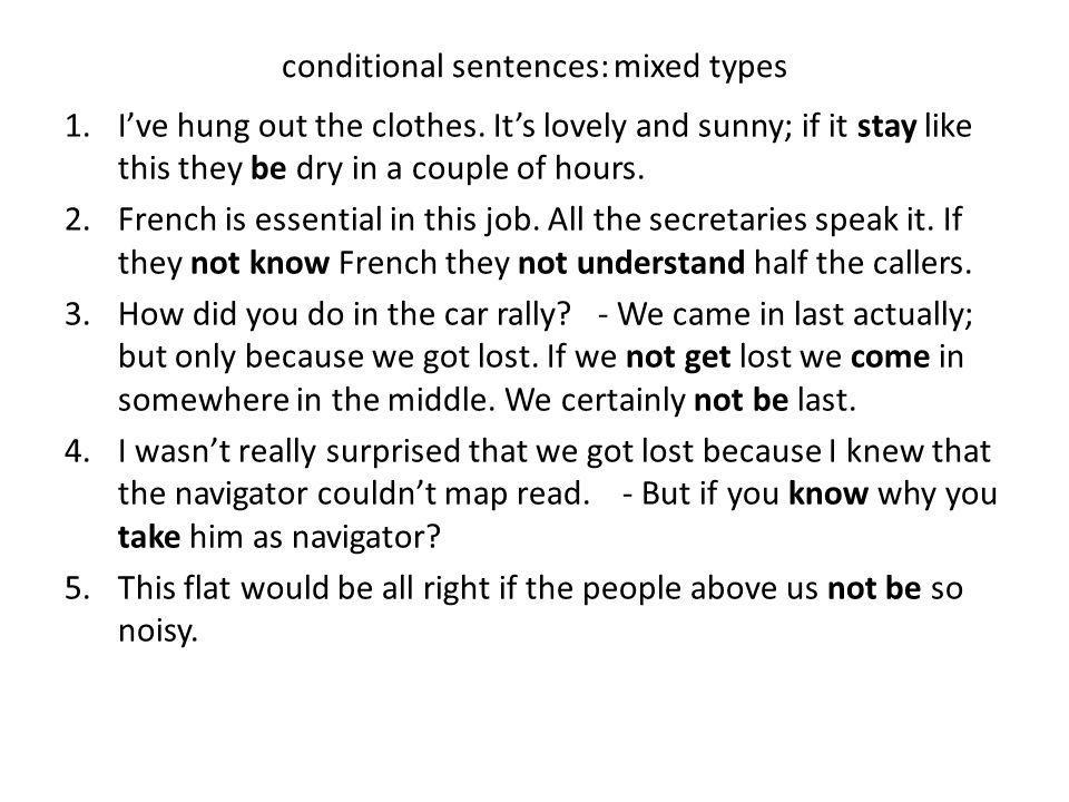 Conditional Sentences Mixed Types Ppt Video Online Download