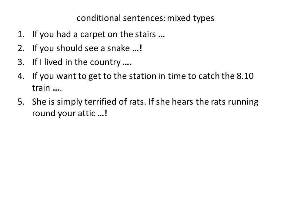 conditional sentences: mixed types