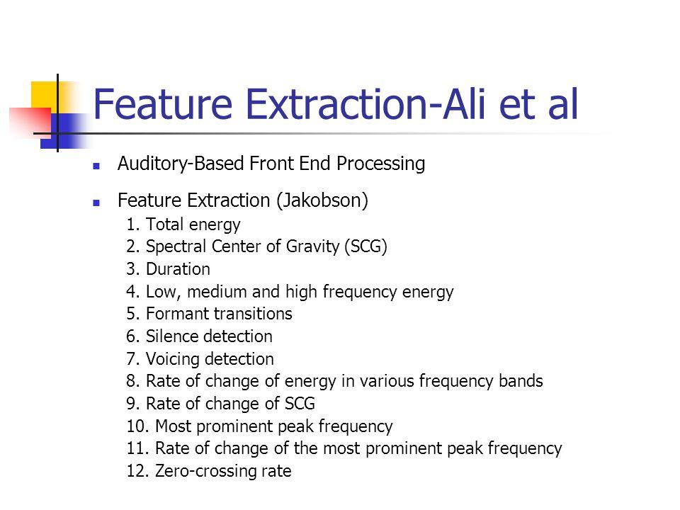Feature Extraction-Ali et al