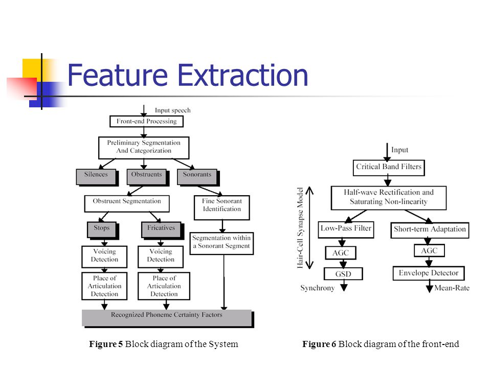 Feature Extraction Figure 5 Block diagram of the System