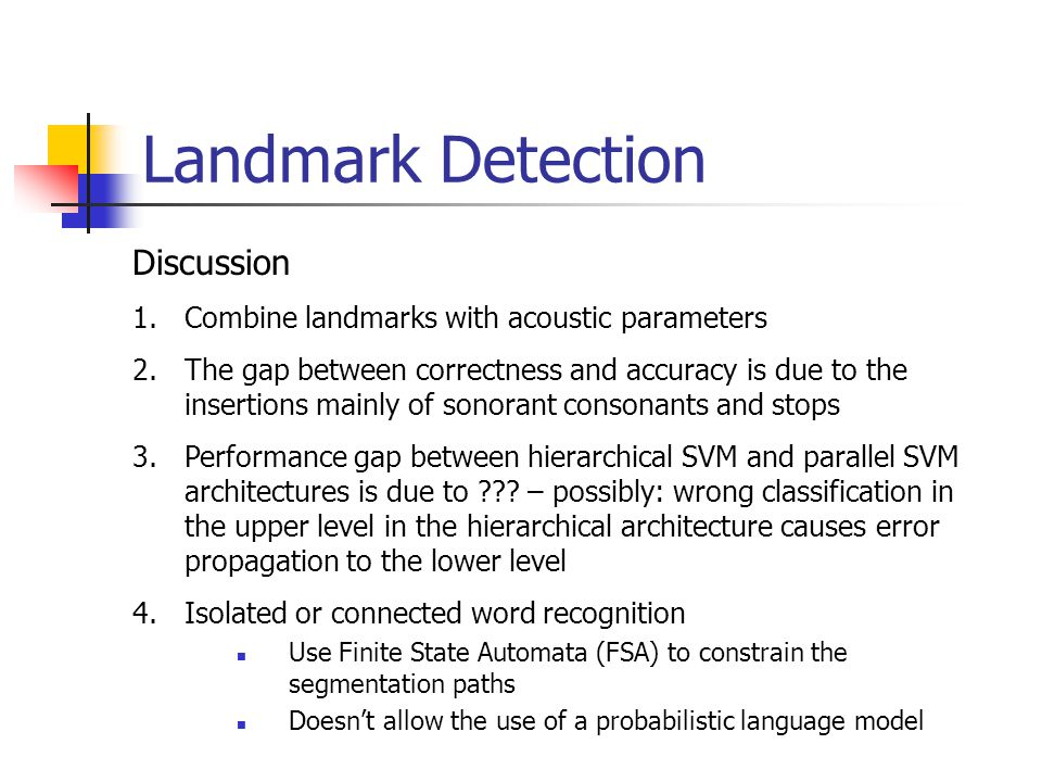 Landmark Detection Discussion