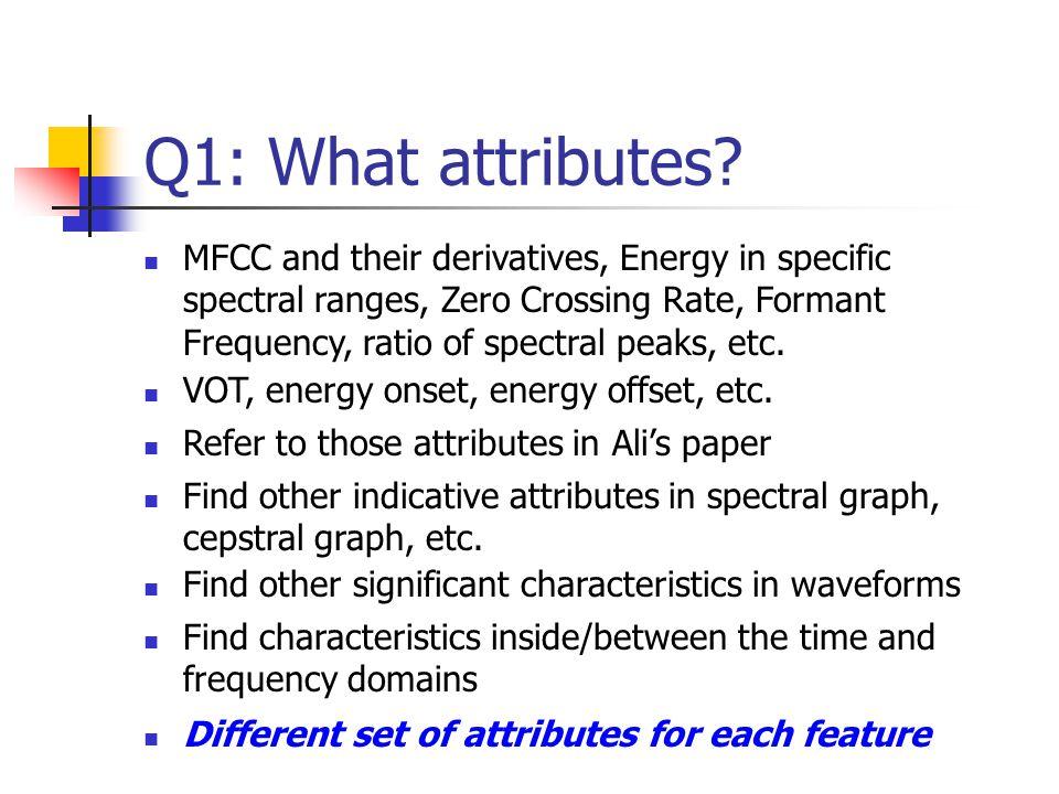 Q1: What attributes