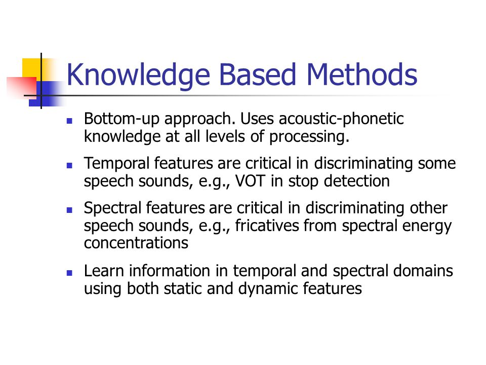 Knowledge Based Methods
