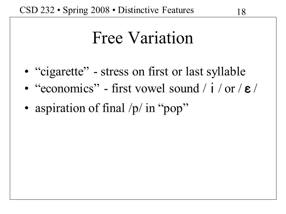 Free Variation cigarette - stress on first or last syllable