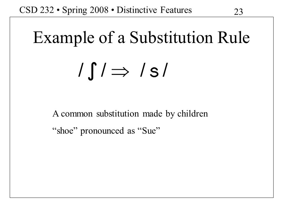 Example of a Substitution Rule