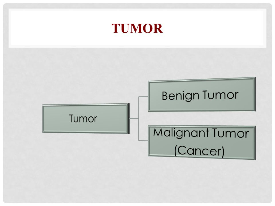Tumor Tumor Benign Tumor Malignant Tumor (Cancer)