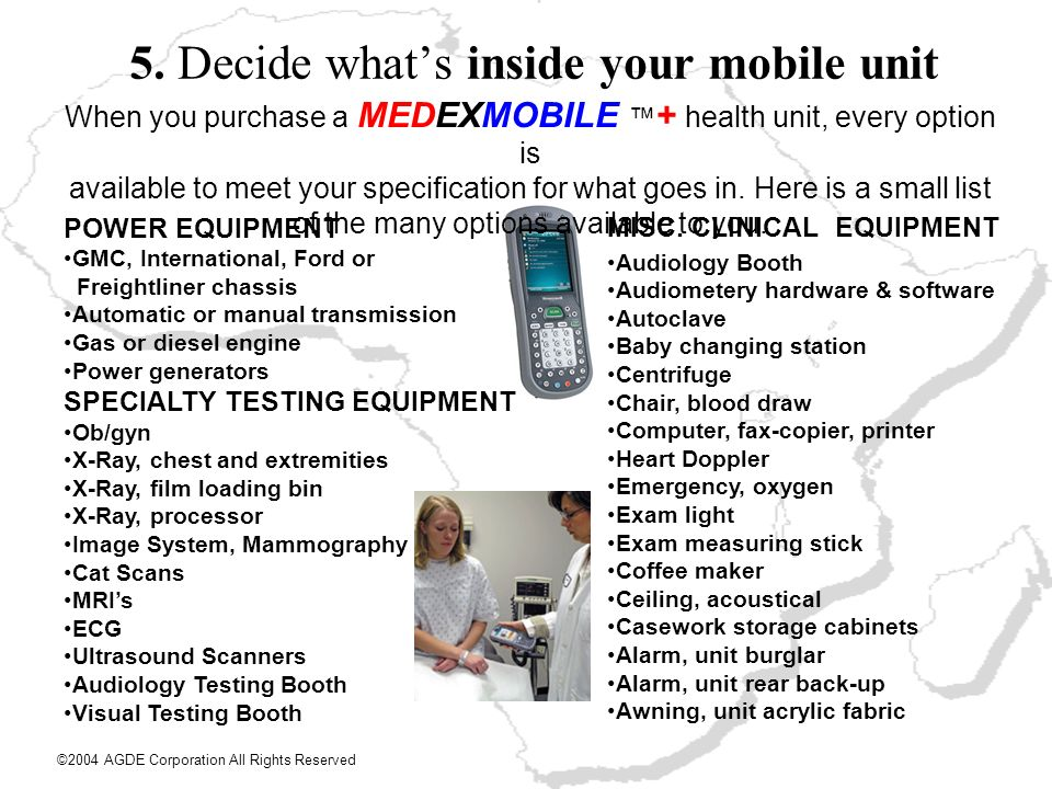 5. Decide what's inside your mobile unit